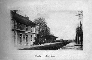 Créchy - The railway station in the early 20th century