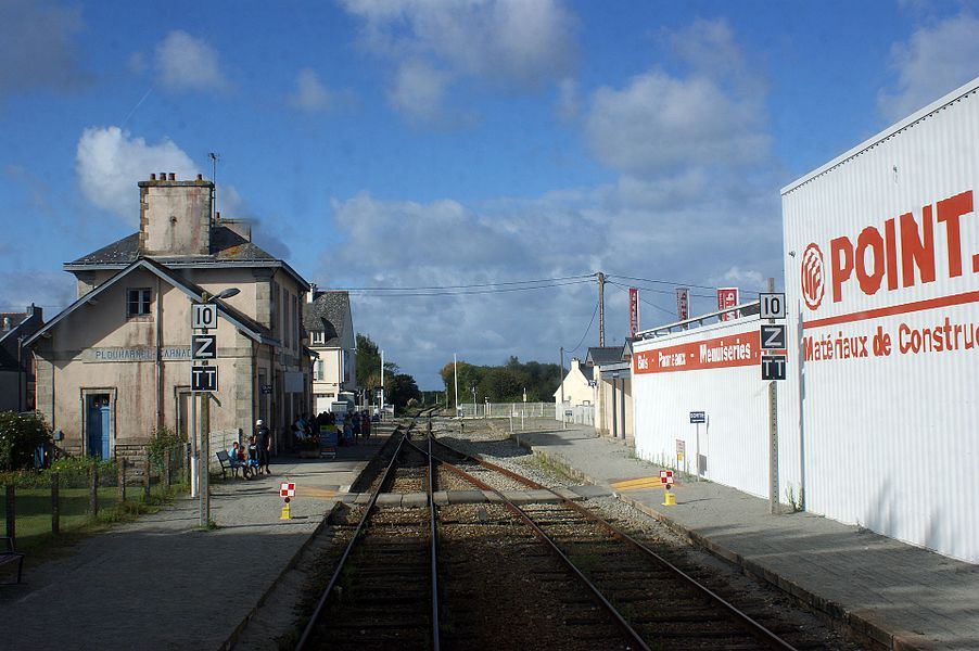 Gare de Plouharnel - Carnac croisement du Tire bouchon.