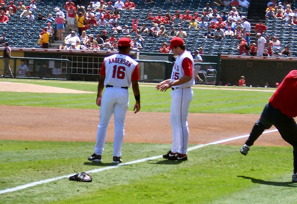 Garret Anderson and Troy Glaus