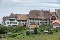 Gartenseite von Häusern an der Route de Sallaz in Rivaz VD.jpg