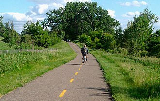 Gateway State Trail - The Gateway State Trail traverses urban open space in the heart of Saint Paul, Minnesota