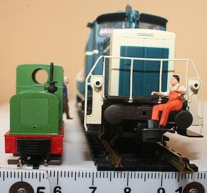 H0f gauge - H0f narrow gauge with H0 standard gauge, both 1:87 scale