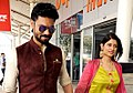 Gaurav Chopra with his wife at the airport in 2018.jpg