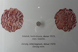 Polish złoty - Gdańsk Denar, 1573