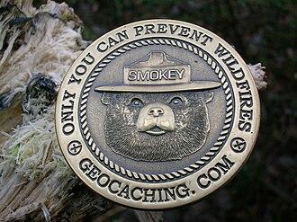 Exonumia -  A Smokey Bear Geocoin