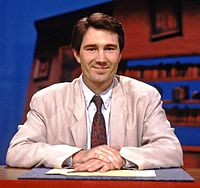 Geoffrey Perkins hosting Channel 4 panel game Don't Quote Me.jpg