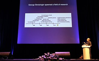 George Streisinger - Monte Westerfield-George Streisinger at the 10th European ZebraFish Meeting, Budapest, Hungary 3-7 July 2017.