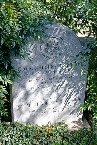 Oak Hill Cemetery (Washington, D.C.) - Image: George Hughes Revercomb grave Corcoran section Oak Hill Cemetery 2013 09 04