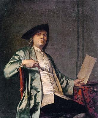 Cornelis Ploos van Amstel - Portrait of Cornelis Ploos van Amstel, by George van der Mijn, c.1758