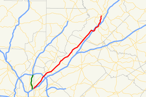 Georgia State Route 13 - Image: Georgia state route 13 map
