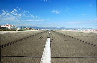 RAF Gibraltar - Image: Gib Airport Runway
