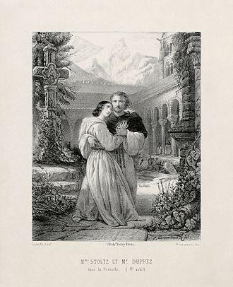 Gilbert Duprez - Image: Gilbert Duprez & Rosine Stoltz in Donizetti's La Favorite