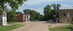 Gilead, Nebraska - Downtown Gilead: Main Street, looking north
