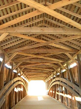 Gilpin's Falls Covered Bridge - Image: Gilpin Falls inside structural members