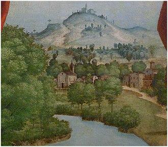 Peschiera del Garda - Probably Village of Peschiera del Garda, 1533 or later by Girolamo dai Libri