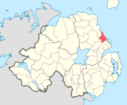 Location of Glenarm Upper, County Antrim, Northern Ireland.