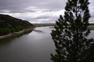 English: Glendo State Park and North Platte Ri...