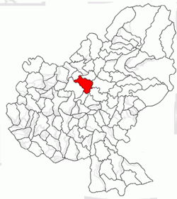 Location of Glodeni, Mureş