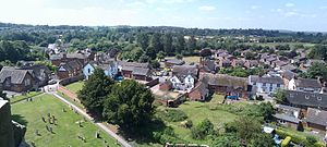 Gnosall - Image: Gnosall Panorama from St Lawrence's tower July 2013