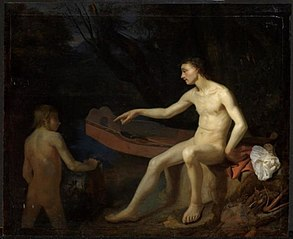 Two Men Bathing