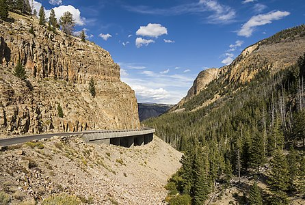 Golden Gate Canyon in Yellowstone National Park
