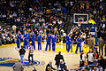 Golden State Warriors line up pregame vs Pistons 1.jpg