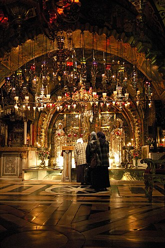 Calvary - Traditional site of Golgotha, within the Church of the Holy Sepulchre
