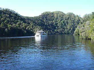 Gordon River - A tour boat on the lower Gordon River