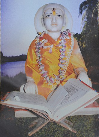 Tulsidas - Statue of Goswami Tulsidas at Kanch Mandir, Tulsi Peeth, Chitrakuta, India