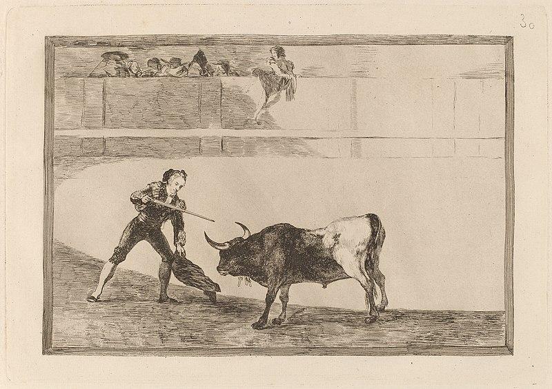 File:Goya - Pedro Romero matando a toro parado (Pedro Romero Killing the Halted Bull).jpg