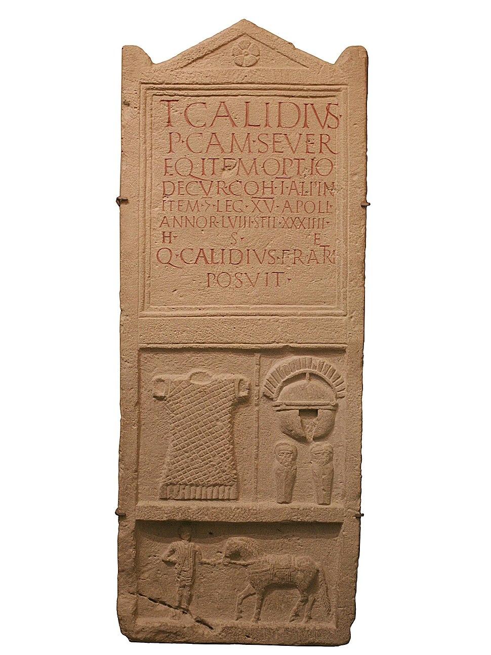 Grabstein Titus Calidius Carnuntum