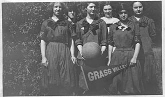 Grass Valley, California - Grass Valley High School girls' basketball team, 1918