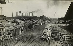 Great Southern Lumber Company - Lumber drying yard of Great Southern Lumber Company