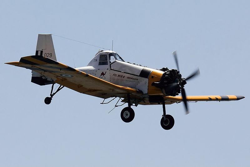 File:Greek Air Force PZL M-18 Dvurekov-1.jpg