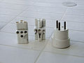 Greek old three-pin 3-way adaptor plug.JPG