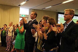 Greens New South Wales - Greens members celebrating during the 2015 NSW election.