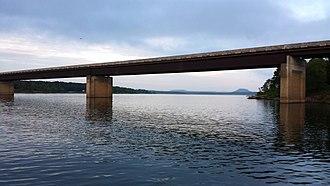 Arkansas Highway 16 - Highway 16 bridge over Greers Ferry Lake