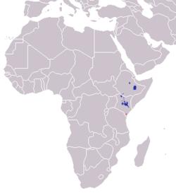 Distribución de la cebra de Grévy