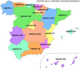 Tercera División - Groups of Tercera División
