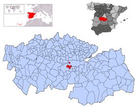 Resultado de imagen de Guadamur (Toledo) mapa