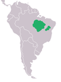 Guaruba guarouba Brazil (map).png