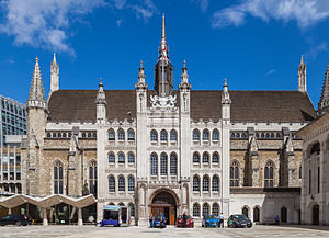 Guildhall, London - The façade of Guildhall.