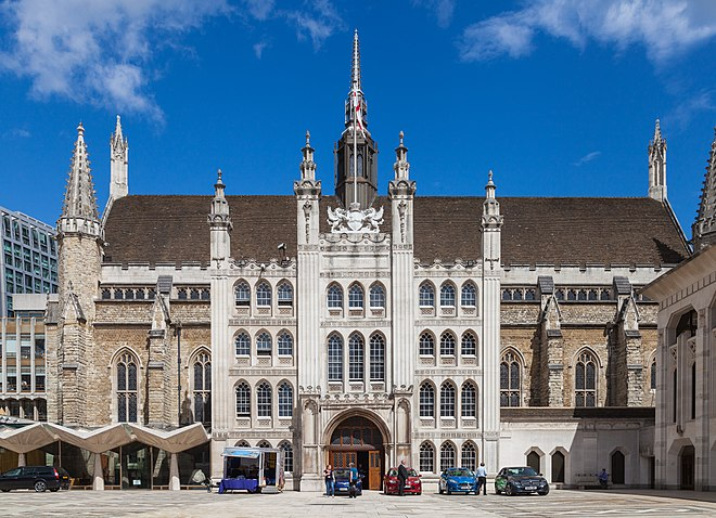 Photograph of the Guildhall in the City of London