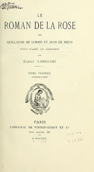 Roman de la Rose - Roman de la Rose (ed. 1914)