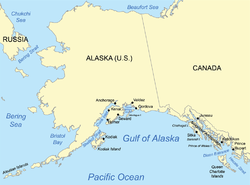 Gulf Of Alaska Wikipedia - Pacific ocean on us map
