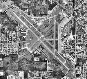 Gulfport–Biloxi International Airport - USGS 1992 orthophoto
