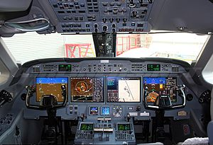Gulfstream G550 - G550 flight deck