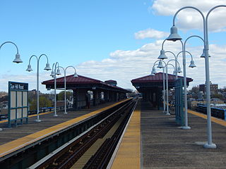 New York City Subway station in The Bronx, New York