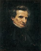 Berlioz by Gustave Courbet, 1850 (Source: Wikimedia)