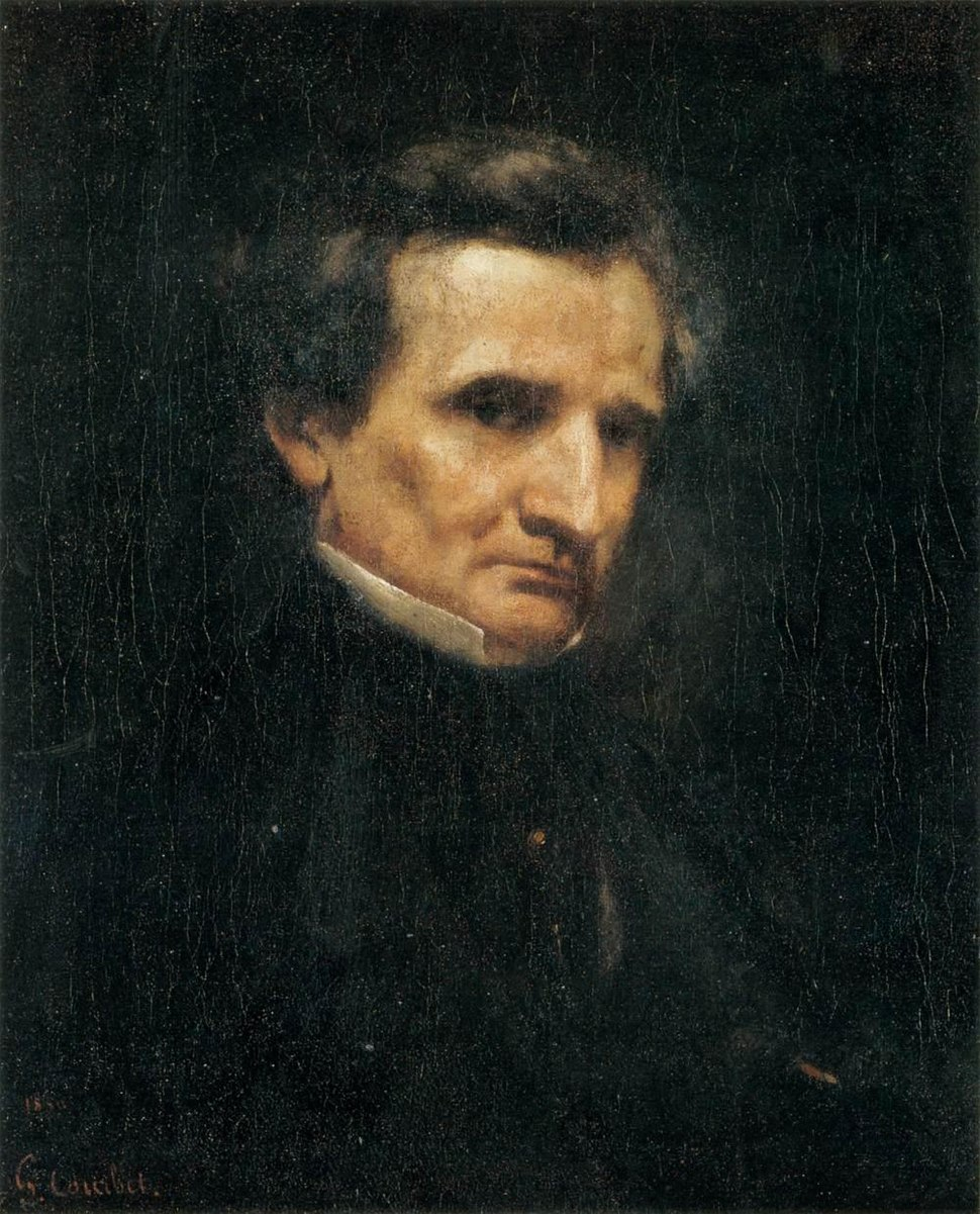 Gustave Courbet - Portrait of Hector Berlioz - WGA05492